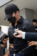 '길거리 음란행위 혐의'농구선수 정병국 영장실질심사 출석