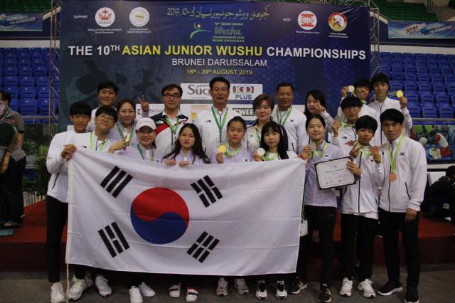 한국 우슈 청소년대표팀 선전, 아시아선수권 9개 메달 수확