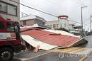 태풍 '타파' 1명 중상…농경지 6천㎡ 침수·7천여가구 정전