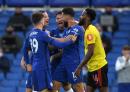 [EPL리뷰]'지루-윌리안-바클리 골' 첼시, 왓포드 누르고 3위 레스터 1점차 추격