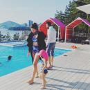 '주영훈♥' 이윤미, 171cm 애셋맘 몸매가 이 정도…딸과 커플 수영복 자태