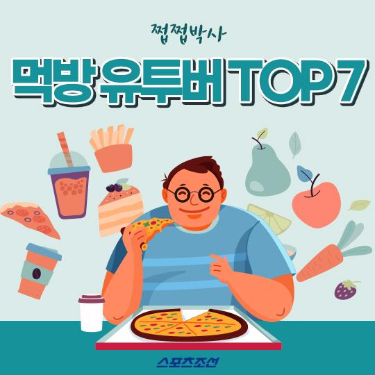 [카드뉴스] 국내 먹방 유투버 TOP 7