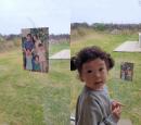 소유진♥백종원 가족, 우도 럭셔리 숙소서 힐링...가족사진 챙겨온 '러블리 막내'