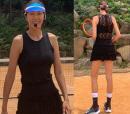 '175cm·53kg' 전미라, 시스루 테니스룩으로 드러난 '8등신 몸매'..모델 포스