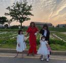 '주영훈♥' 이윤미, 세 딸과 사진 찍었는데 멀쩡한게無