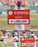 '11G ERA 0+8홀드 11K'최준용, 데뷔 첫 롯데 월간 MVP 수상