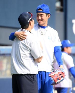 구자욱-박세혁, 다정한 두 남자