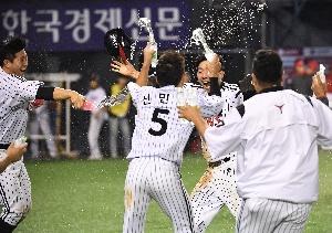 김용의 짜릿한 끝내기 승리