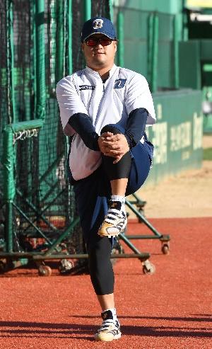 박석민, 가을 햇살 받으며 여유롭게!