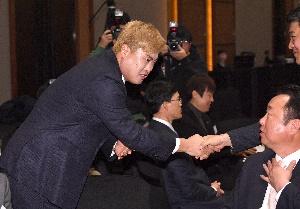 류현진, 프로야구 시상식 참석