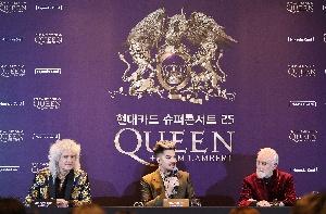 퀸, 첫 단독 내한공연 기자회견!