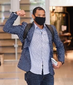 키움 새 외인 러셀, 인천공항 통해 입국