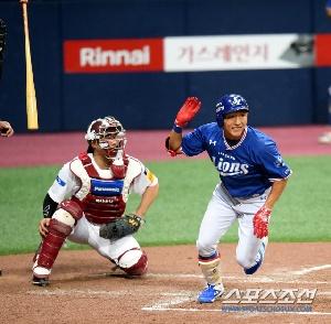 송준석, 선취 1타점 2루타!