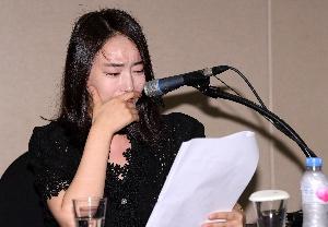 입장 해명하는 배우 박수인