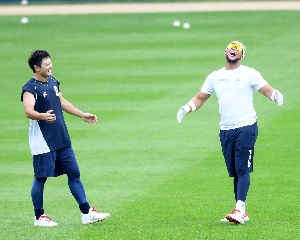 최주환-페르난데스, 야구가 즐거운 두 남자!